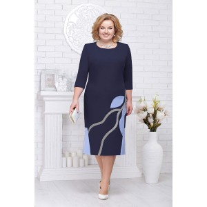 NINELE 5693 Платье (синий/голубой)
