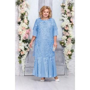 NINELE 5747 Платье (голубой)