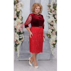 NINELE 5748 Платье (красный)