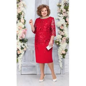 NINELE 5753 Платье (красный)