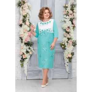 NINELE 5761 Платье (светло-зелёный)