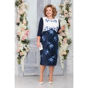 NINELE 5761 Платье (синий)