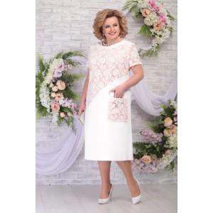 NINELE 5810 Платье (молоко-пудра)