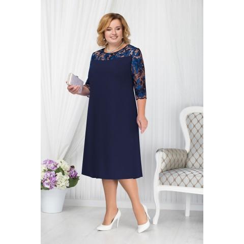 NINELE 7201 BM Платье (синий)