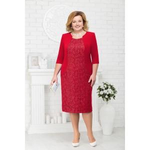 NINELE 7213 Платье (красный)
