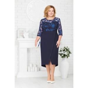 NINELE 7214 Платье (синий)