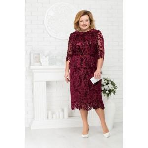 NINELE 7215 Платье (бордо)