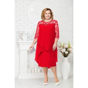 NINELE 7221 Платье (красный)
