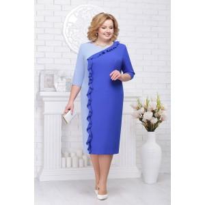 NINELE 7225 Платье (василек/голубой)