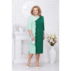 NINELE 7225 Платье (изумруд/светло-зеленый)