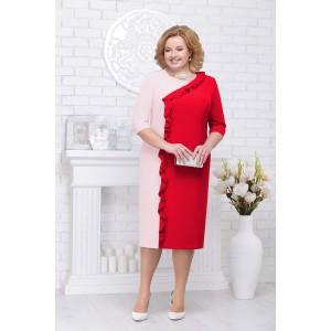 NINELE 7225 Платье (красный/пудра)