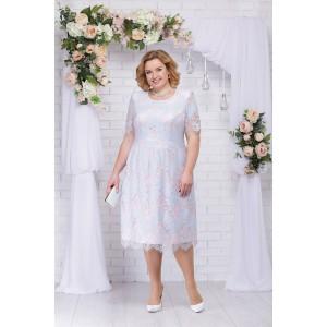 NINELE 7230 Платье (голубой/пудра)