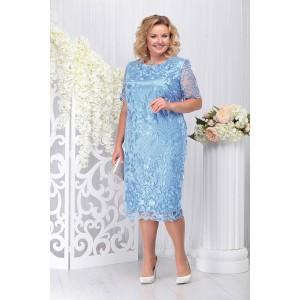 NINELE 7231 Платье (голубой)
