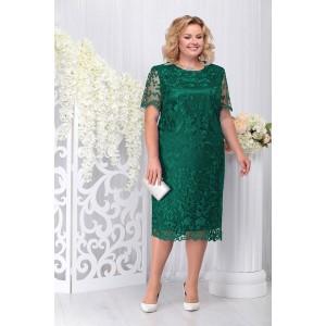NINELE 7231 Платье (изумруд)