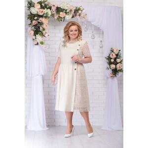 NINELE 7235 Платье (бежевый)