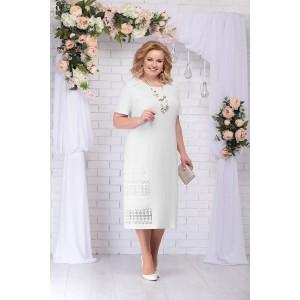NINELE 7237 Платье (молоко)