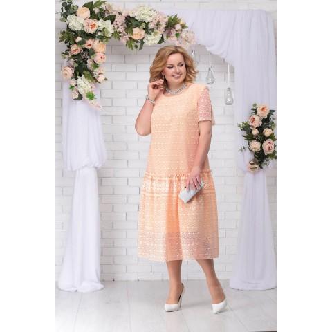NINELE 7241 Платье (персик)