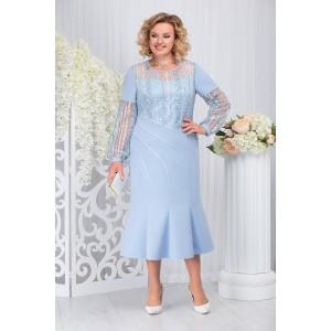 NINELE 7252 Платье (голубой)