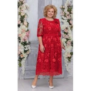 NINELE 7262 Платье (красный)