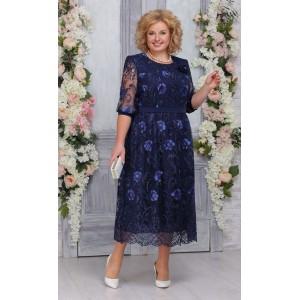 NINELE 7262 Платье (синий)