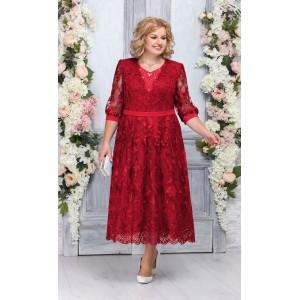 NINELE 7264 Платье (красный)