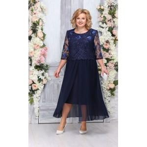 NINELE 7268 Платье (синий)