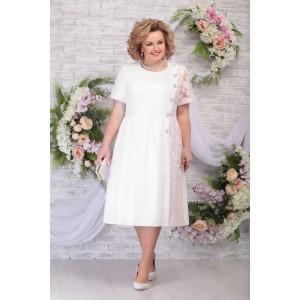 NINELE 7285 Платье (молоко-пудра)