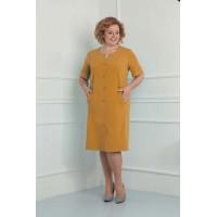 ORHIDEYA LUX 840 Платье  (горчица)