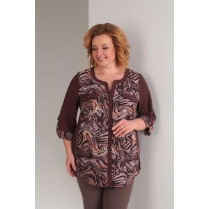 ORHIDEYA LUX 879 Блуза (коричневый)