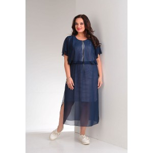 ORHIDEYA LUX 918-1 Платье (темно-синий)