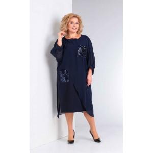 ORHIDEYA LUX 975 Платье (синий)
