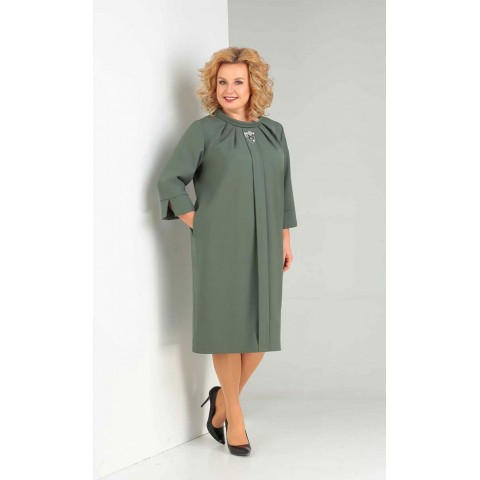 ORHIDEYA LUX 989 Платье (олива)