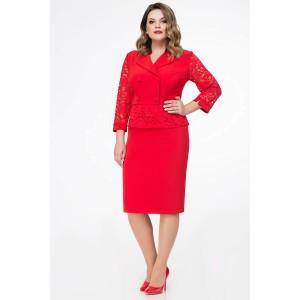 PANDA 427880 Костюм юбочный (красный)