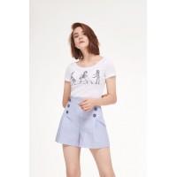 PRESTIGEMODA 3429-2 Блузка с шортами