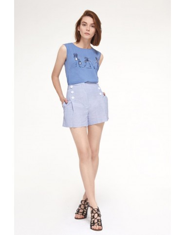 PRESTIGEMODA 3429-3 Блузка с шортами