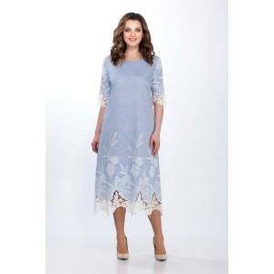 PRESTIGEMODA 3450/1 Платье (голубой)