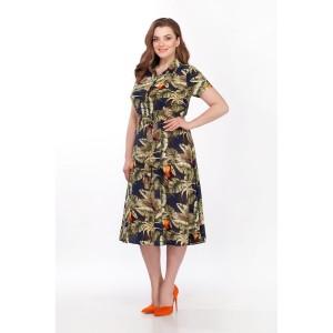 PRESTIGEMODA 3602-1 Платье (синий-олива)