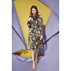 PRESTIGEMODA 3602 Платье ( оливка)