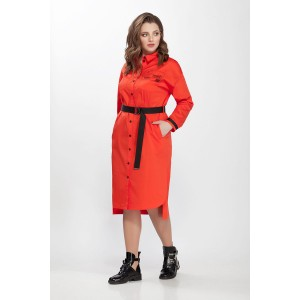PRESTIGEMODA 3621 Платье (Оранжевый)