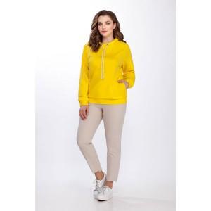 PRESTIGEMODA 3644 Комплект джемпер и брюки (желтый)
