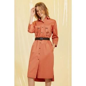 PRESTIGEMODA 3645 Платье (оранжевый)