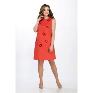 PRESTIGEMODA 3650 Платье (коралл)