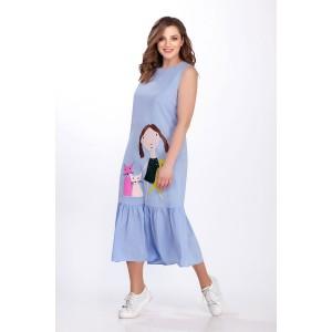 PRESTIGEMODA 3651 Платье (голубой)