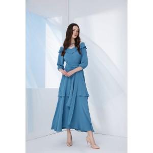 PRESTIGEMODA 3685 Платье (дымчато-синий)