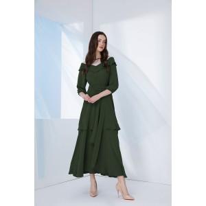 PRESTIGEMODA 3685 Платье (зеленый)