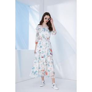 PRESTIGEMODA 3685 Платье (молоко-мята)