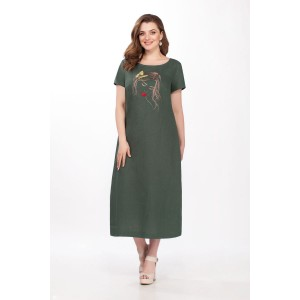 PRESTIGEMODA 3688 Платье (хаки)