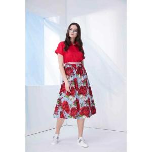 PRESTIGEMODA 3699 Платье ( красно-голубой)