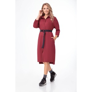PRESTIGEMODA 3781 Платье (бордо)