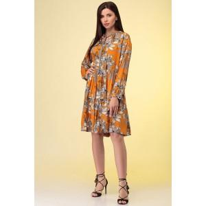 PRESTIGEMODA 3883 Платье (оранжевый)